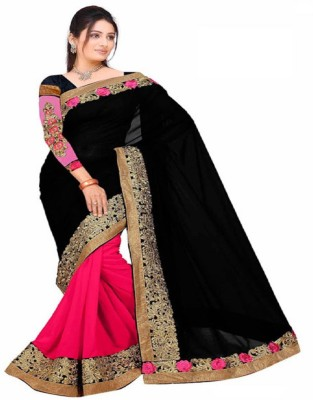 Wowcreation Embriodered Fashion Handloom Georgette Sari