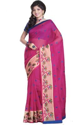 Glad2baWoman Self Design, Woven, Floral Print Bomkai Net Sari