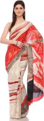 Sisel Printed Fashion Pure Crepe Sari