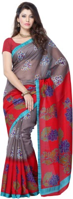 JTInternational Printed Fashion Art Silk Sari