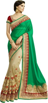 Crafts N Culture Embriodered Fashion Net, Georgette Sari