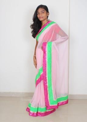 Fly Angels Self Design Fashion Net Sari