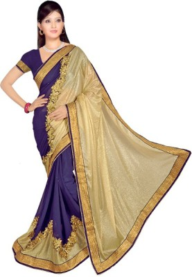 Sneh Varsha Sarees Plain Bollywood Handloom Georgette, Lycra Sari