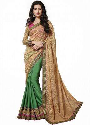 Kashish Lifestyle Self Design Fashion Net, Viscose Sari