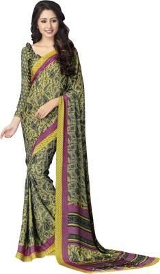 Jp Enterprise Printed Daily Wear Crepe Sari