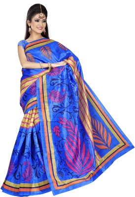 Stalion Creation Geometric Print Bhagalpuri Art Silk Sari