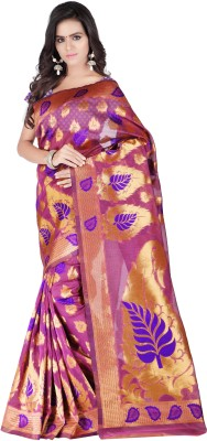 Weavedeal Embellished Kanjivaram Silk Cotton Blend Sari