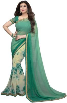 Bombay Velvat Fab Embriodered Fashion Chiffon Sari