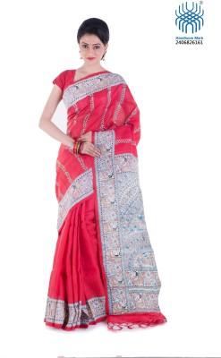 Tantuja Woven Phulkari Handloom Cotton Sari