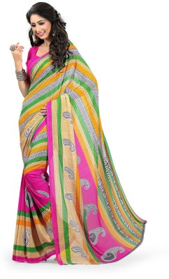Krisha Fashion Printed Daily Wear Georgette Sari
