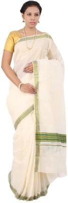 APR Brand Solid Balarampuram Handloom Cotton Sari
