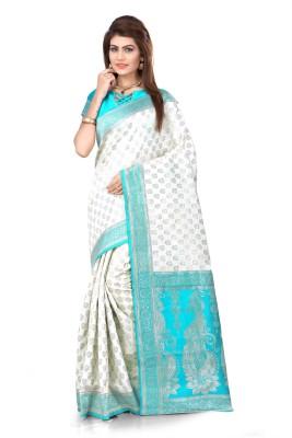 Om Shantam Sarees Self Design Banarasi Banarasi Silk Sari