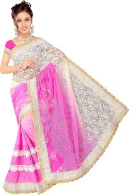 Ganga Silk Embriodered Fashion Net Sari