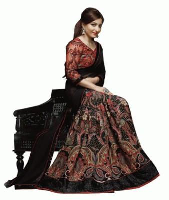 Glamour Tex Self Design Bollywood Chiffon Sari