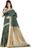 Vastrakala Striped Banarasi Cotton, Silk...