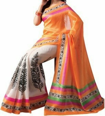 Giyya Fashion Embriodered, Solid Bollywood Handloom Brasso Sari