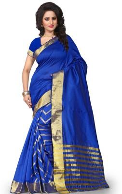 silvermoon Plain Fashion Polyester Sari