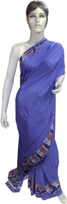 Chirmangal Solid Fashion Synthetic Crepe Sari