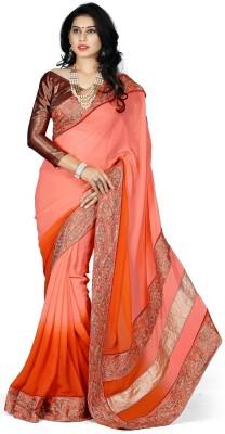 Naksh Creation Self Design Bollywood Georgette Sari
