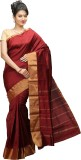 JISB Solid Kanjivaram Art Silk Saree (Ma...