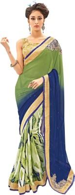 Bharti Prints Floral Print Fashion Georgette Sari