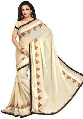 Shoppingekart Embriodered Fashion Georgette Sari