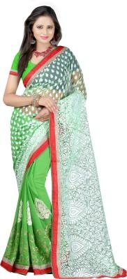 Majestic Silk Embriodered Fashion Brasso, Chiffon Sari