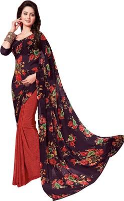 PSHOPEE Floral Print Fashion Chiffon Sari
