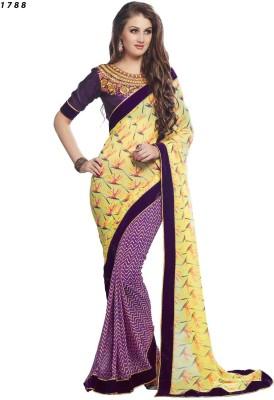 Ethnic Trend Printed Daily Wear Georgette Sari