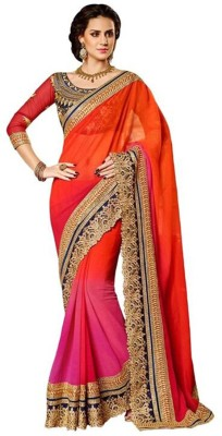 Friendly Fab Embriodered Fashion Georgette Sari