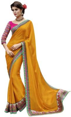 DesiButik Self Design Fashion Chiffon Sari