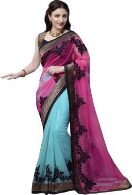 Nayra Fashion Embellished Fashion Georgette Sari