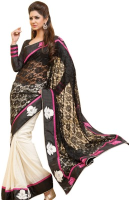 Panash Self Design Bollywood Net, Georgette Sari