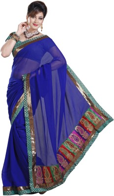 De Marca Self Design Fashion Chiffon Sari