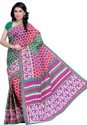 Hi-Choice Self Design Fashion Cotton Sari