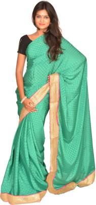 Jagadamba Self Design Fashion Crepe Sari