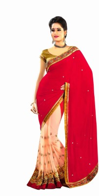 Party Wear Dresses Embriodered Fashion Georgette Sari