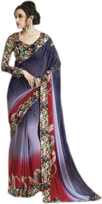 KL COLLECTION Printed Fashion Georgette Sari