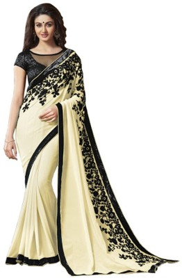 Mutiar Embriodered Fashion Georgette Sari