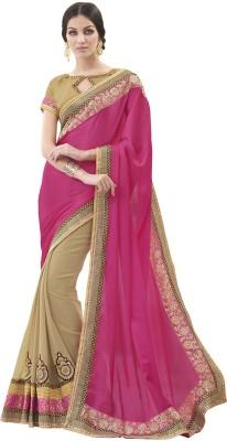 MelluhaFashion Embriodered Fashion Brasso Sari