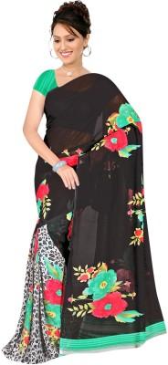 fashionfem Printed Fashion Georgette Sari