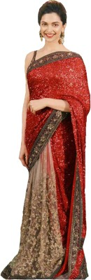 Fashion Fiza Embriodered Fashion Georgette Sari