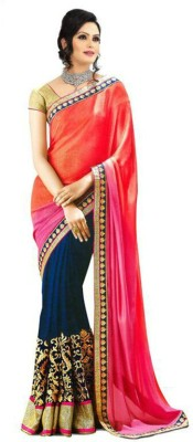 Frenzy Embriodered Bollywood Georgette Sari