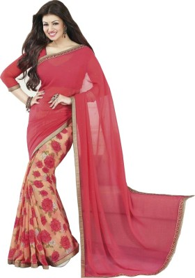 Pinkpassion Floral Print Bollywood Georgette Sari