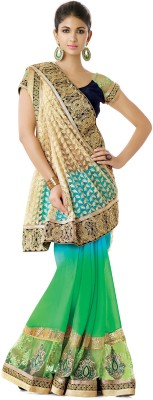 Jasleen Fashion Embellished, Embriodered Fashion Net, Georgette, Lace, Brocade, Art Silk Sari