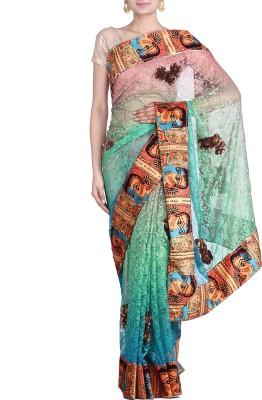 REME Embriodered Fashion Net Sari