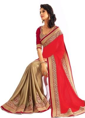 Radhecreation Solid Chanderi Chiffon, Silk Sari