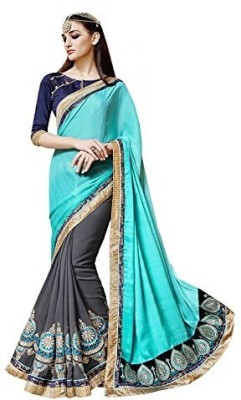 Shikha Creations Solid Bollywood Pure Chiffon Sari