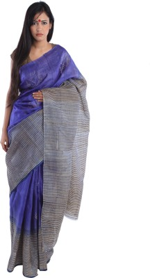 Kiara Crafts Printed Daily Wear Handloom Tussar Silk Sari