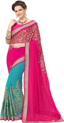 Elevate Women Embriodered Fashion Georgette Sari